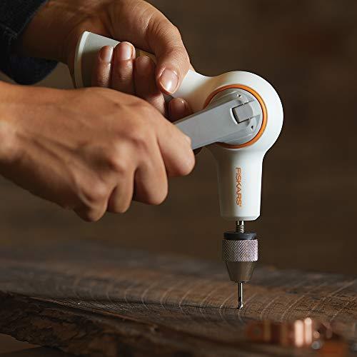 Fiskars Crafts DIY Precision Hand Drill, Grey, White/Gray