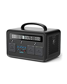 Anker Portable Power Station PowerHouse II 800 500W/777Wh Solar Generator with 110V/500W 2-AC Outlets 2X 60W Power Delivery Outputs & LED Flashlight for Outdoor RV/Van Camping Home Emergencies