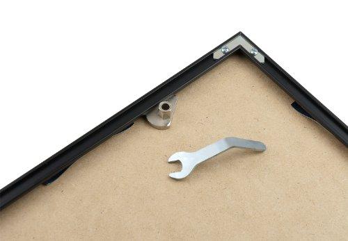 Diebstahlsicherung für Alu-Rahmen, Schrägmontage-SET