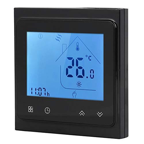 LDDLDG Termostato Calefacción Inteligente Programable Funciona con Alexa Pantalla Táctil LCD Smartsensor 95~240V AC Termostato Negro Pantalla Táctil