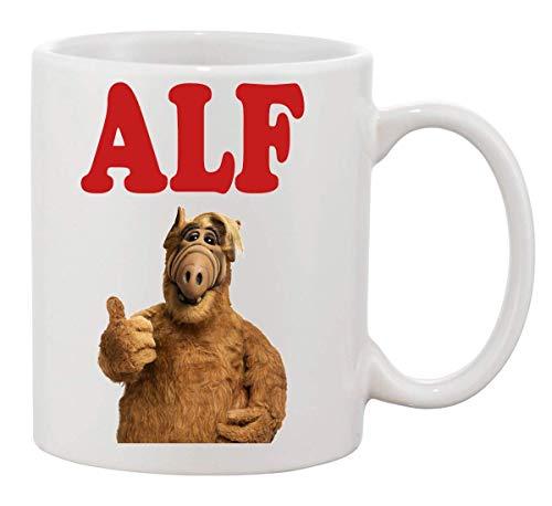 Alf Portrait TV Show Design Standing Showing Finger Mug Cup Ceramic Tea Coffee Tasse