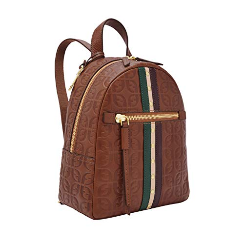"""Leather, Backpack 9.25""""L x 5""""W x 10.5""""H 1 Leather Handle, 2 Leather Backpack Straps Zipper Closure"""