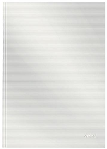 Leitz A4 Notizbuch, 80 Blatt, Hardcover, Karierte Seiten, Solid, Weiß, 46640001