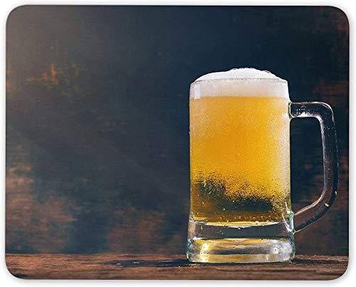 Mauspad, rustikales Bier Mausmattenpad - Lustiges Pub Papa Bruder Onkel Geschenk PC Computer