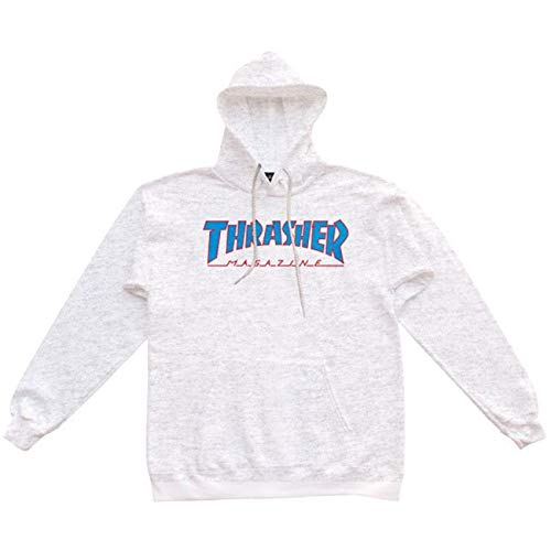 THRASHER, Sweat outlined hood, Ash grey