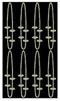 Beistle 00443 暗闇で光るコウモリビーズネックレス 8ピース ハロウィンパーティー記念品 コスチュームアクセサリー 36インチ イエロー