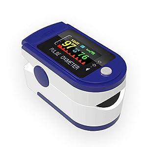 SPOCLIN - Oximetro pulsometro Dedo, Pulsioximetro de Dedo con Pantalla Medidor de Oxigeno y Lectura Instantánea de SpO2, PR Aplica para Adultos y Niños.