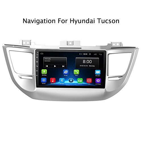 Tucson 15-17 Android 9.1 IPS Car Radio GPS Stereo Navi for Hyundai IX35 Tucson 2015-2017 Head Unit Multimedia Video Player with Bluetooth WiFi BT Touch Screen Navigation