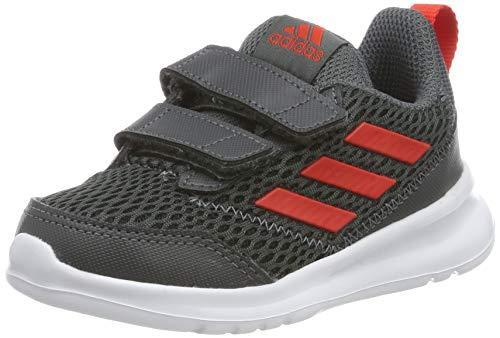 adidas Unisex Baby Altarun CF I Gymnastikschuhe, Grau (Grey Six/Active Red/Grey Six Grey Six/Active Red/Grey Six), 22 EU