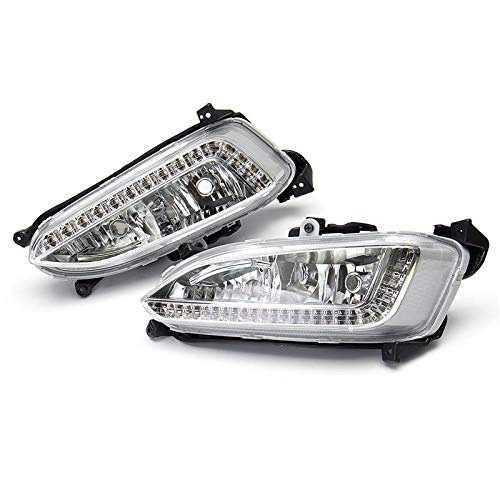 1Set White /& Yellow LED Daytime Running Lights Fog Lamps DRL With Turn Generic fit for Mitsubishi Pajero Sport 2013-2015