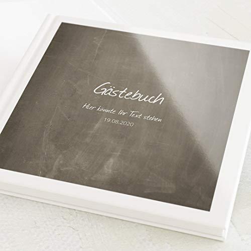 sendmoments Gästebuch, zum Auslegen und Eintragen, Tafelmotiv, personalisiert mit Wunschtext,...