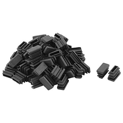 Sourcingmap Table en Plastique Jambe Pieds Chaise Tube Tuyau Insérer Embout Noir 20 mm x 10 mm 60 PCS