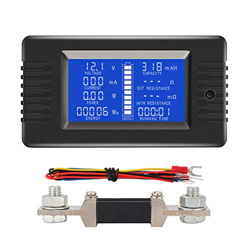 Purchase uniquegoods LCD Battery Monitor Meter DC 0-200V 0-300A Voltage Current Power Energy Capacit...