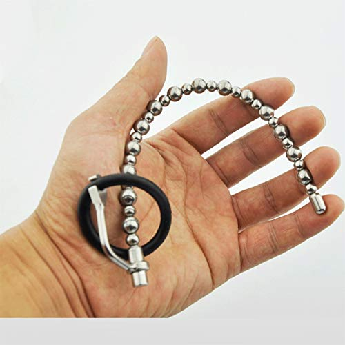 LJZ Pull Beads Sonidos uretrales con glande Anillo for los Hombres Estimulador Enchufe Metal Smooth Fit Skin Impermeable Jeans