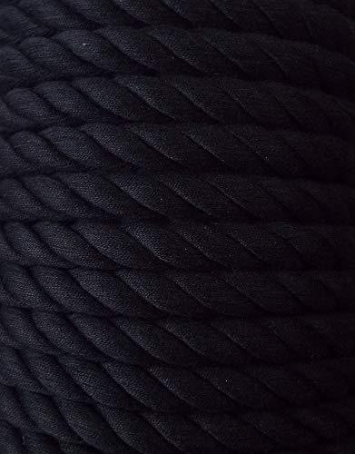 3 m Baumwollkordel 10 mm schwarz
