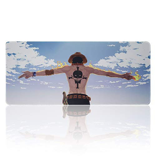 Extended Gaming Mouse Pad for One Piece,Large Mousepad with Non-Slip Rubber Base Computer and Keyboard Pad(27.5' x 11.8' x 0.1')