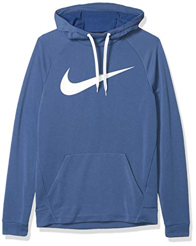 Nike Men's Hoodie Pull-Over Swoosh, Mystic Navy/White, Medium