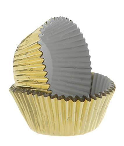 CakeSupplyShop Gold Foil Large (Jumbo) Baking Cups - 50pack