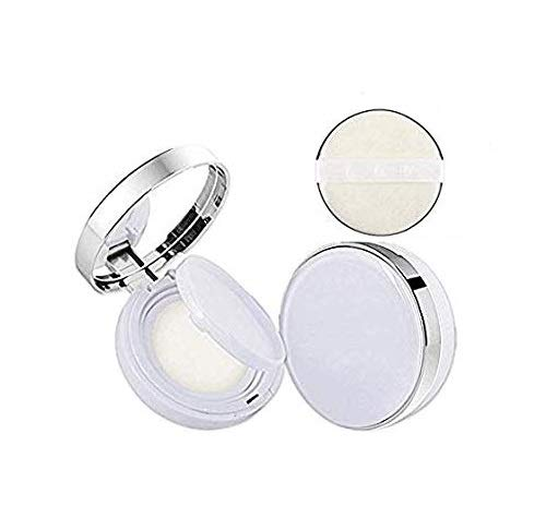 DNHCLL White Empty Luxurious Portable Air Cushion Puff Box BB Cream Container Dressing Case Powder Box with Air Cushion Sponge Powder Puff and Mirror(15ml,0.5oz)
