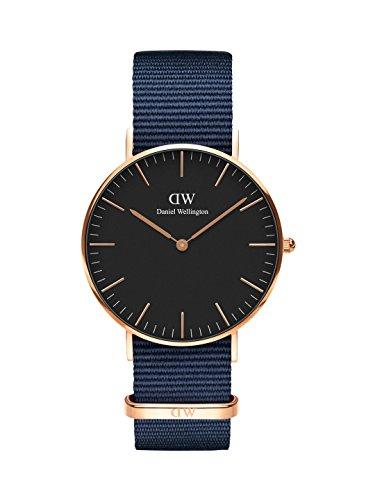 Daniel Wellington Unisex volwassen analoog kwarts horloge met stof armband DW00100281
