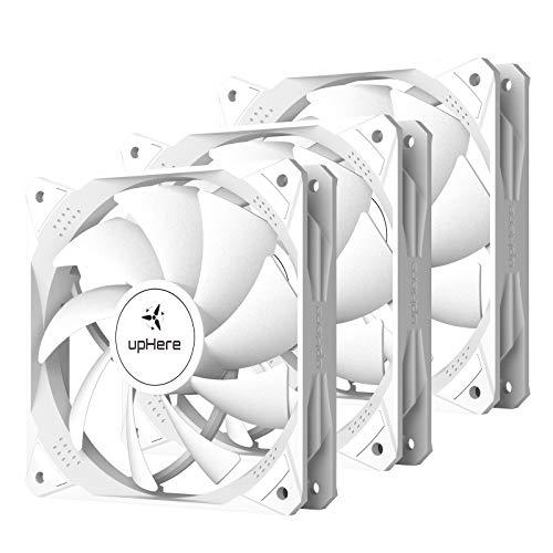 upHere Ventilateur PC 120mm PWM Haute Performance pour Boîtier PC D'ordinateur Ultra Silencieux, 3 Pack(NT12044-3)