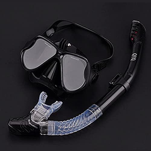 CHSDN Máscara de esnórquel Conjunto de Tubo de esnórquel Máscara de Buceo Gafas de Buceo antivaho Tubo de esnórquel para cámara de Deportes subacuáticos