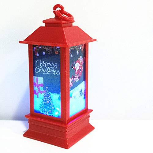 MMKICC Decorazioni Natalizie, QLQGY Luci a LED Candele Pendenti per la Decorazione Natalizia Lampade per Lanterne per Illuminazione, Tipo 3