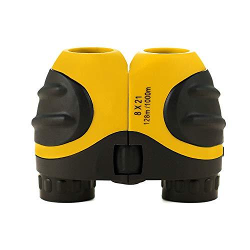 8X21 Children's Binoculars HD Optical Mini Compact Toy Focusable Binoculars 3-12 Years Old Children's Best Gift for Concept Travel Camping