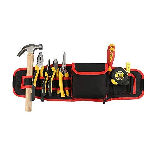 Heuptas voor tuingereedschap, multifunctioneel, Oxford-stof, waterdicht, gereedschapsriem met 8 zakken, 1 koffer, gereedschap, schort, organizer voor houtbewerking
