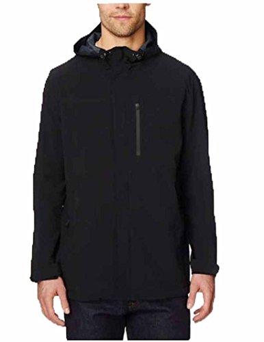 32 DEGREES Mens Rain Jacket, Black, Large
