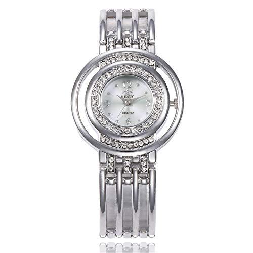 Reloj de Pulsera de Mujer Regalo Hueco Reloj de Pulsera de Mujer-Plata