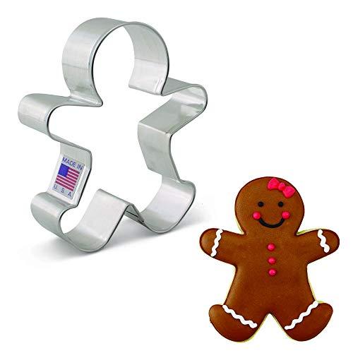 Ann Clark Cookie Cutters Szczęśliwy piernik człowiek foremka do ciastek, 10,2 cm