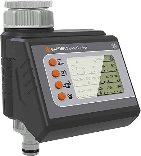 Gardena Bewässerungscomputer EasyControl: Bewässerungssteuerung, tägliche Bewässerung oder jeden 2/3/7 Tag, bis zu drei Bewässerungen pro Tag, LC-Display, Batteriebetrieb (1881-20)
