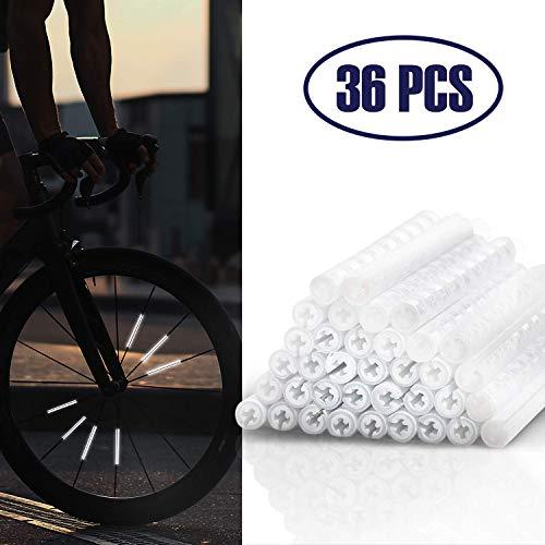 JIPRENS Speichenreflektoren Reflektoren Fahrrad Reflektor Clips, 36 Stück 360° Sichtbarkeit Kinder Fahrradreflektoren,Leichtes und wasserdichtes Fahrradzubehör für die Sicherheit Beim Radfahren