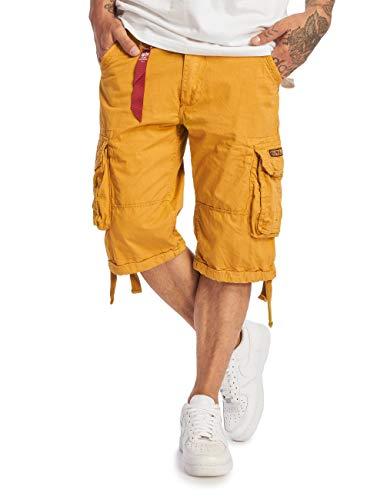 Alpha Industries Herren Shorts Jet gelb W 32