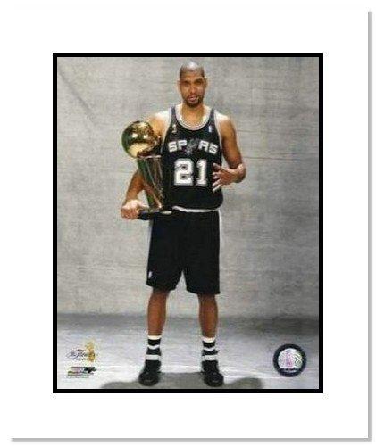 Tim Duncan San Antonio Spurs NBA 8x10 Photograph 2007 Champs Trophy 4x Winner