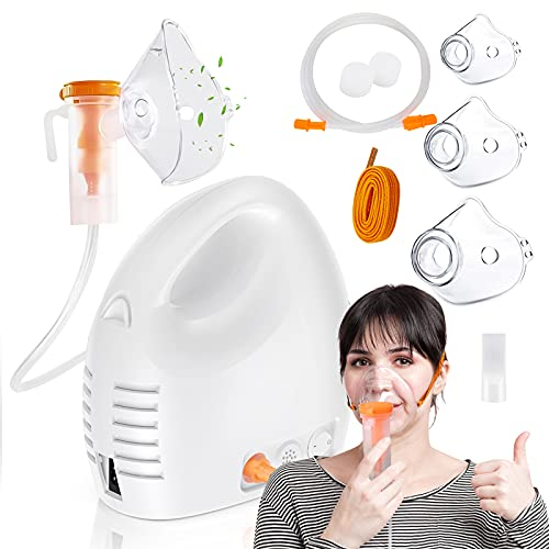 JUWA Nebulizer Machine for Adults and Kids -Personal Compressor Nebuliser Machine Portable Compressor System with Tubing Kits for Home Use