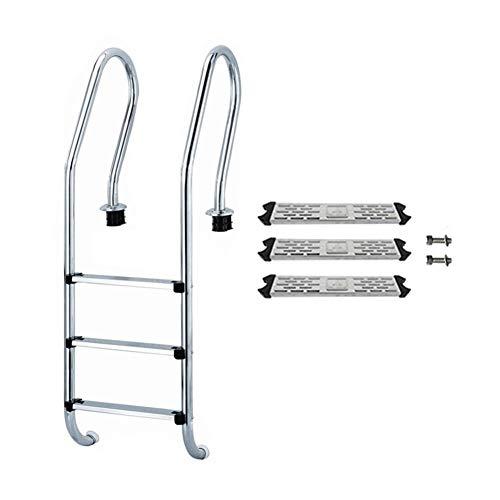 Bestlle - Escalera de Repuesto para Piscina, Acero Inoxidable, Antideslizante, Escalera, 1 Unidad