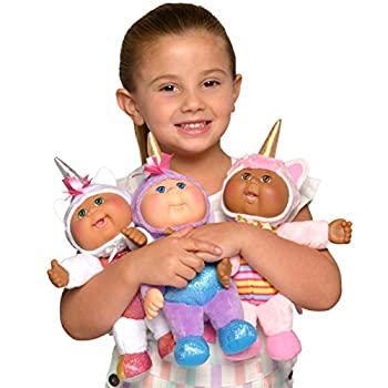 Cabbage Patch Kids Cuties Fantasy Friends 9  3-Pack - Realistic CPK Babies Dressed as Magical Unicorns Collectible Dolls - Amazon Exclusive