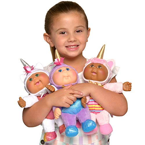 "Cabbage Patch Kids Cuties, Fantasy Friends, 9"" 3-Pack - Realistic CPK Babies Dressed as Magical Unicorns, Collectible Dolls - Amazon Exclusive"