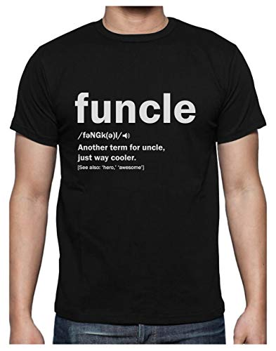 Green Turtle Camiseta para Hombre - Regalo para mi Tio - Funny Uncle Funcle Definition Gift For Uncles Large Negro