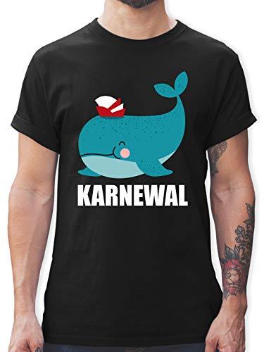 Karneval & Fasching - Karnewal - L - Schwarz - Fun Shirt - L190 - Tshirt Herren und Männer T-Shirts
