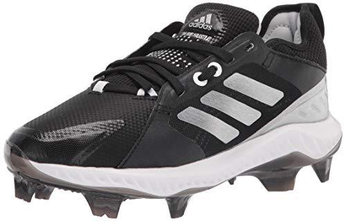 adidas Women's EG6681 Baseball Shoe, Black/Silver/White, 10