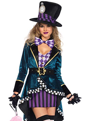 Leg Avenue Women's Delightful Hatter Costume, Multi, Large