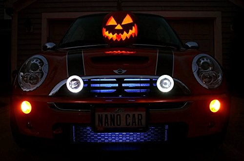 BlingLights Compatible BMW Mini Cooper / S Grill Angel Eye Halo Fog Driving Lamps