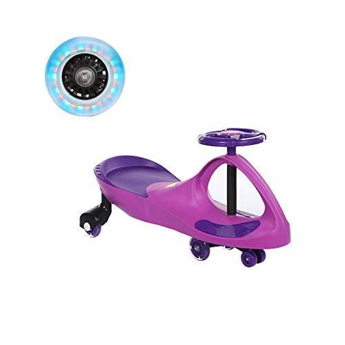Voiture de Torsion pour Enfants 1-3-6 Ans Hommes et Femmes Baby Yo Car Girl Flash Slow Wheel Swing Wheel Slide FANJIANI (Couleur : Violet)