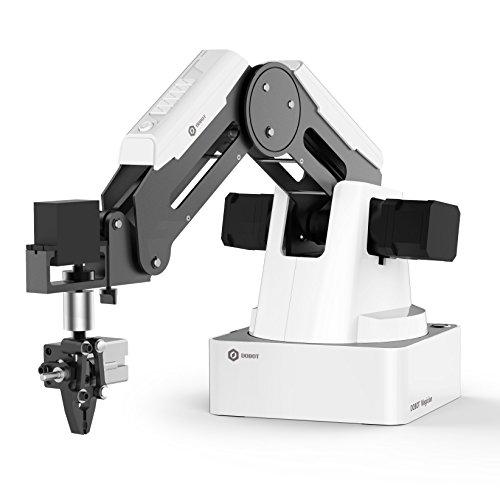 Robot de Programmation éducatif DOBOT Magician, Bras robotique 4 Axes avec imprimante 3D, Graveur Laser, Porte-Stylo, Ventouses d'enlèvement, Têtes de préhension pour K12 ou Education Steam