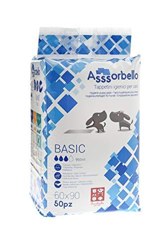 Ferribiella IGN020 Tappetini Igienici per Cani, Basic, 60x90 cm, Bianco - 200 Tappetini (Confezione da 4)