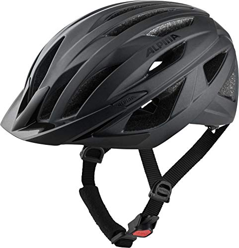 Alpina Unisex– Erwachsene Parana Fahrradhelm, Black matt, 51-56 cm