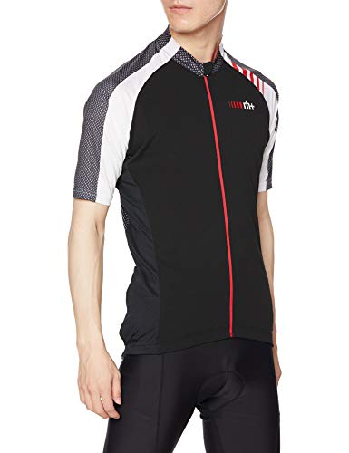 Zero RH+ Attack, Jersey Bike Uomo, Black/White/Red Code, M